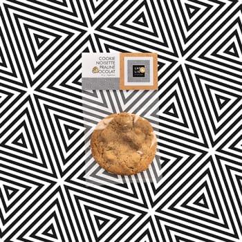 Cookie noisette praliné chocolat
