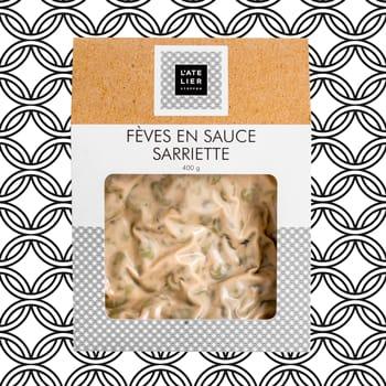Fèves en sauce sarriette