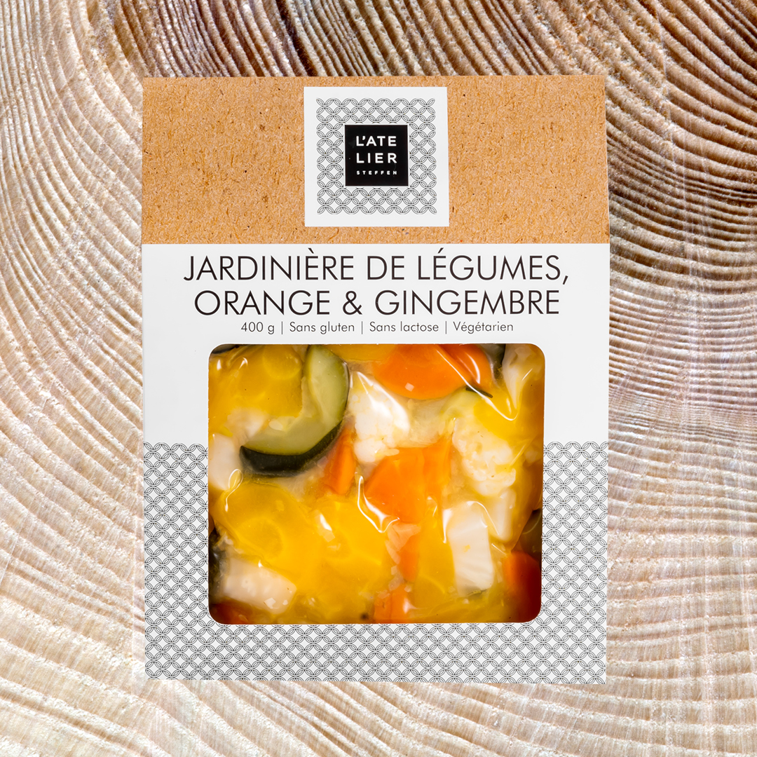 Jardinière de légumes à l'orange et au gingembre