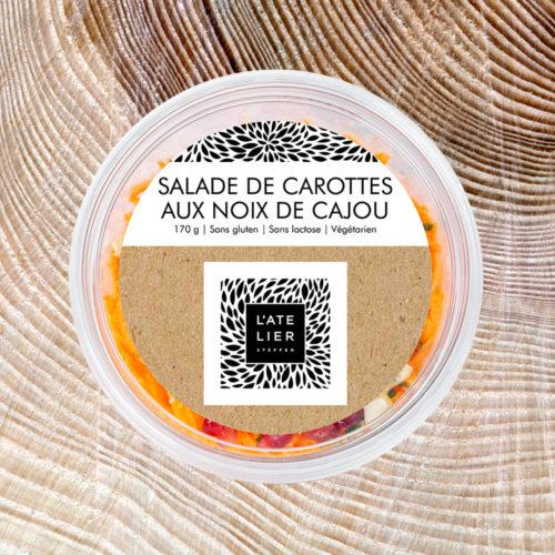 Salade de carottes  aux noix de cajou